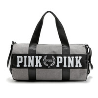 beach bag style - Travel bag shoulder bag PINK sports fitness aslant bag Letter Large Capacity Waterproof Beach Bags New Women Handbags