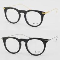 Wholesale 2017 New Super Light weight Vintage Round Titanium Clear Lens Women Mens Unisex Optical Eye Glasses Retro Circling Eyeglasses Frame Oculos