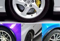 toyota car body kits - Universal x Carbon Fiber Fender Flares Wheel Lip Body Kits Car Decoration Fit Toyota Honda BMW Seat Suzuki Mini Mazda Volvo