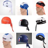 Wholesale Pro Team Cycling Cap Anti sweat Headwear Outdoor Sports Men Bike Bicycles Hats Scarf Bandana Cycling Caps