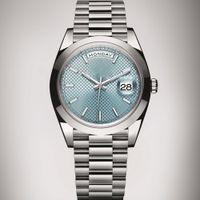 al por mayor cara reloj original-AAA Roles relojes hombres de lujo de marca automática DayDate Sapphire Blue cara hombres de acero inoxidable Reloj mecánico original relojes de pulsera 36mm