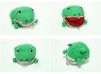 Wholesale Naruto Cute Green Frog Coin Bag Cosplay Props Plush Toy Purse Wallet Funny Gift