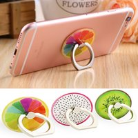 Wholesale Phone Universal Finger Ring Fashion Cute Fruit Pattern Finger Ring Mount Stand Hold With Retail Package