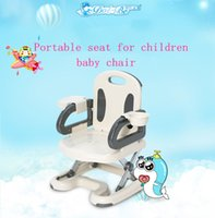 Wholesale 2017 new baby chair luxury folding portable children high quality baby table chair beige