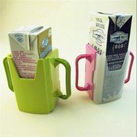 baby juice cup - Baby Child Universal Juice Pouch Milk Box Holder Cup Toddler Self Helper Mug