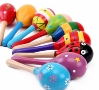 Wholesale 2017 Baby Wooden Toy Rattle Baby cute Rattle toys Orff musical instruments Educational Toys