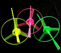 bamboo dragonfly manufacturers - Luminous hands flying saucer Luminescent frisbee Flash flying fairy Bamboo dragonfly classic toy manufacturer
