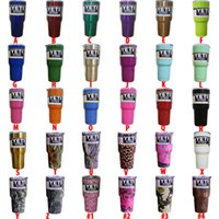 Wholesale Leopard Shiny Color Metal OZ Camouflage Mugs oz OZ Yeti Coolers Cars Beer IN STOCK