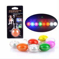 Wholesale LED light pet dog pendant Safety Tag flashing dog cat pendant color free shiping h110