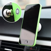 Wholesale 10PCS Magnetic Degree Rotation Mini Phone Car Holder Magnet Dashboard mobile phone Holder For Apple iPhone Samsung Smart Phone GPS C