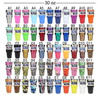 Wholesale NEW YETI Metallic Color oz oz Colored Yeti Rambler Tumbler Cup Two Tone Ombre Blueline Punisher Skull Stainless Steel Travel Mugs