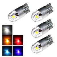 W5W LED T10 3030 Lampes de voiture 168 194 Turn Signal Plaque d'immatriculation Lumière de coffre Lampes de dégagement Lampe de lecture 12V