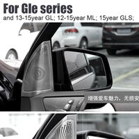 audio speaker cover - Interior Door Audio Speaker cover decoration decals For Mercedes Benz GLA C GLC GLE ML S GL Car styling Stainless steel stickers
