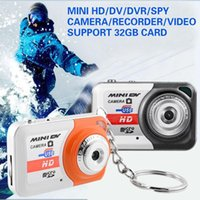 Wholesale 32GB TF Card Smallest in the World Mini HD DV DVR Camera Digital Video recorder Hidden camcorder video sports Support