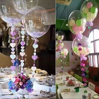 Wholesale New inch Clear Foil Balloons Transparent Aluminum Balloon Wedding Brithday Party Decoration balony globos