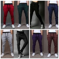 big men slacks - Men Casual Harem Pants Loose Fashion Baggy Hip Hop Trousers Dance Jogger Sport Sweatpants Big Plus Size Hammer Sport Pants Slacks F310
