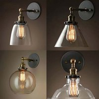 age energy - New Designed Edison Simplicity Light Wall Mount Light Sconces Aged Steel Finish Glass Shade styles Christmas Decoration