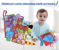 Wholesale 2016Stereo tail baby cloth book tear now years old baby early education books touch educational toys