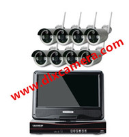 Wholesale 8ch Plug And Play Inch LCD Screen Wireless NVR Kit CCTV System P HD WIFI IP Camera Outdoor IR Security Camera