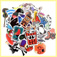 bicycle set stickers - 100pcs set Graffiti Car Stickers Motorcycle Bicycle Sticker Skateboard Laptop Luggage Box Snowboard Fridge Phone Home Decoration Paster