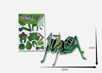 Wholesale D puzzle new kids educational toys dimensional puzzle ant DIY D jigsaw for children animal insects series jigsaw