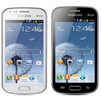al por mayor los teléfonos galaxy s-Remanufacturado Original Samsung Galaxy S Duos S7562 Dual SIM 4.0 pulgadas 4 GB ROM 5.0MP cámara 3G WIFI Bluetooth GPS desbloqueado teléfono móvil DHL 5pcs