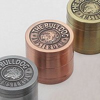 Wholesale Bulldog Grinders Herb Grinders Piece and Piece Herb Spice Crusher Gold Herb Mill mm mm Diameter High Quality Metal Grinders