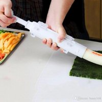 Wholesale Sushezi Roller Kit Sushi Mold Maker Bazooka Sushi Rolls Making Tool Rice Mould Roller Cooking Tools