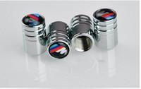al por mayor ruedas de cromo bmw-Casquillos del perno de rueda de la rueda de la válvula del neumático de la rueda de coche del metal de 4pcs / lot para BMW E46 E52 E5 E60 E90 E91 E93 M3 M5 M6 X1 X3 X5 X6 F01 F30 F20 F10 F15 F13