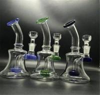 Prix pas cher! Mini Bubbler Petit verre Water Pipe Cendrier Inline Percolator Bongs de verre à la main Oil Rig Mix Couleurs