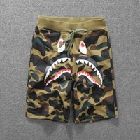 Wholesale 2017 summer shark mouth camouflage printed casual pants for men and women lovers shorts trousers