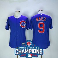 Wholesale 2016 World Series Champions Chicago Cubs Baez Majestic FLEXBASE Collection Player Jerseys MIX ORDER sunnee