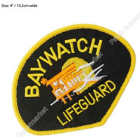 bay life - 4 quot NBC BAY WATCH BAYWATCH LA LIFE GUARD JACKET Movie TV Series Cosplay Embroidered Emblem iron on patch Baseball Cap Badge