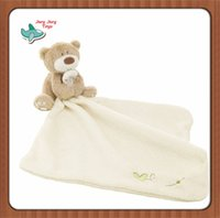 bath toys towels - Baby Hand Towel Infant Newbron Supper Soft Appease Towel Comfort Taggies Blanket Toys Bear Baby Bath Towel M