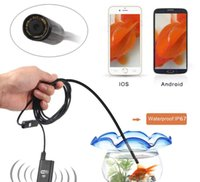 Wholesale 9mm Lens Wifi Android Iphone Endoscope Camera M cable Waterproof Snake Tube Pipe Borescope P Iphone Camera Endoscope