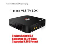 V88 TV Box RK3229 Quad-Core Android 5.1 OS 1300+ chaînes Sports arabes Sky it Sky Royaume-Uni 1300+ Europe IPTV KODI 4K vidéo Set top box