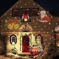 Wholesale 12 Patterns Laser Projector Christmas Laser Snowflake Projector Outdoor LED Waterproof Disco Lights Home Garden Star Light Indoor Decoration