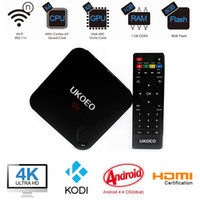 Wholesale UKOEO MBOX Amlogic S802 Quad core Android kitkat smart TV Box with XBMC KODI fully loaded HDMI wifi K P H