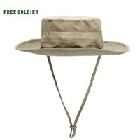 Wholesale FREE SOLDIER Outdoor hiking camping anti uv sunbonnet sun round capummer style fishing cap fisherman hat