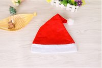 Wholesale 2016 very hot beautiful and cute red Xmas cap For Party Holiday Decoration Santa claus Hat
