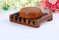 Wholesale New Wooden Soap Dishes Bathroom Soap Tray Holder Box Handmade Wooden Soap Dish As Holder For Soaps PPA854