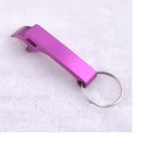 anodized aluminum color - mixed colors can opener anodized aluminum bottle opener keychain wedding gift keychain opener WA1637
