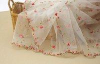 Wholesale Organza small rose jacquard lace fabric bitter fleabane bitter fleabane skirt diy craft wedding dress clothes accessories cm