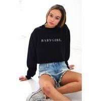 Wholesale BABYGIRL Black Hoody Sweatshirts Hoodies Casual Sweatshirts Long Sleeve Crew Neck Tops
