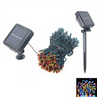 Wholesale 10M Solar string lights M LEDs colors Modes Solar power outdoor waterproof Solar string Lights For Garden Christmas decor
