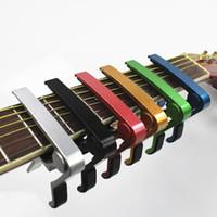 Aleación de zinc del capo de la guitarra del Aroma a estrenar para las guitarras eléctricas acústicas Plata y Brown únicos opcionales
