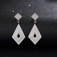 Wholesale Star Harvest elegance concise sterling silver dangle earrings