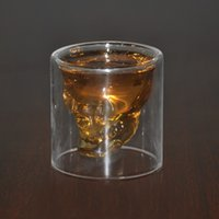 antique whiskey glass - home bar drinking ware crystal skull head vodka whiskey shot glass cup skull mugs transparent crystal skull head shot glass cup travel cup