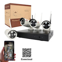 Wholesale HD Channel Long Distance Wireless Signal Complete Security CCTV System With Eseecloud APP Plug and Play Wifi NVR Kit
