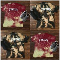 Wholesale summer camouflage yeezus t shirt men women short sleeve tshirt hip hop t shirt harajuku streetwear kanye west camo t shirts